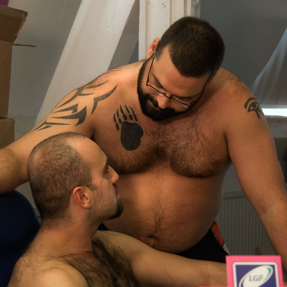 Thick dirty gay bear chubby has