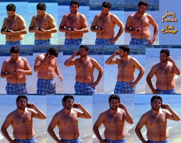 Jerry Ferrara shirtless collage