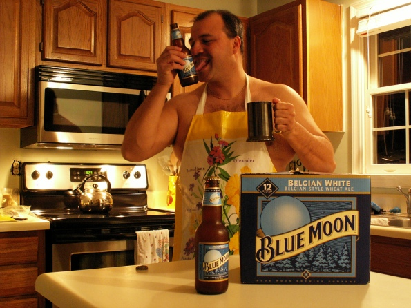 Blue Moon Beer Daddy Bear