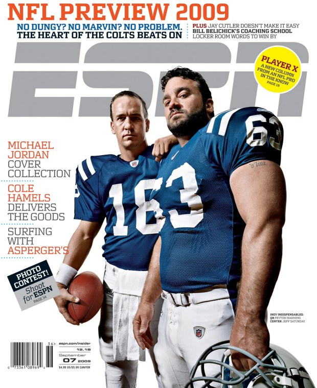 Jeff Saturday ESPN magazine