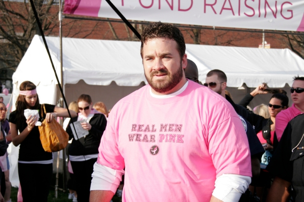 Jeff Saturday Real Men Wear Pink