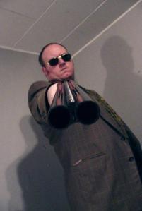 Joe Davison shotgun
