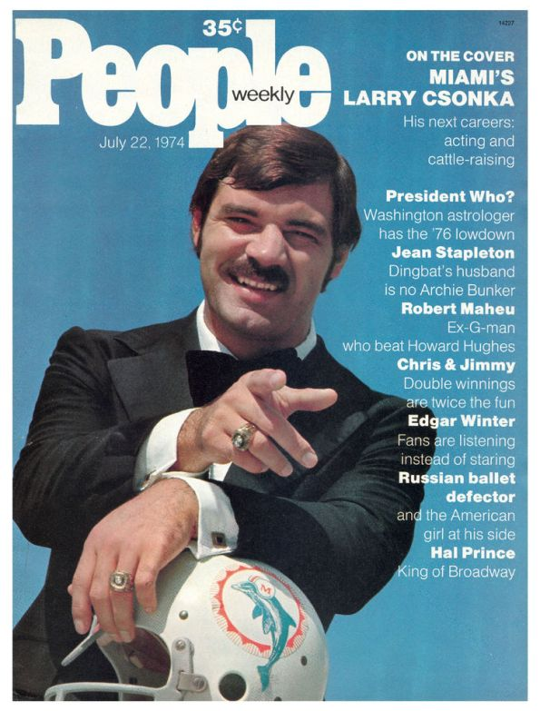 People Weekly Magazine Larry Csonka